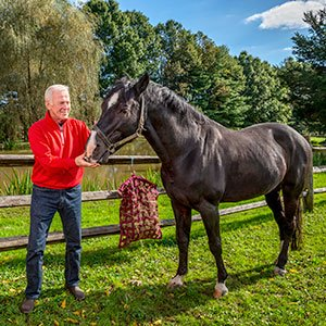 Doug Clemens with his horse