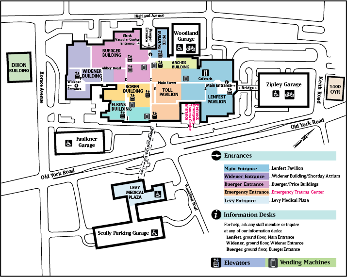Abington Hospital Location and Parking Guide Map - Abington ... on us physical therapy map, us pokemon map, us fallout map,