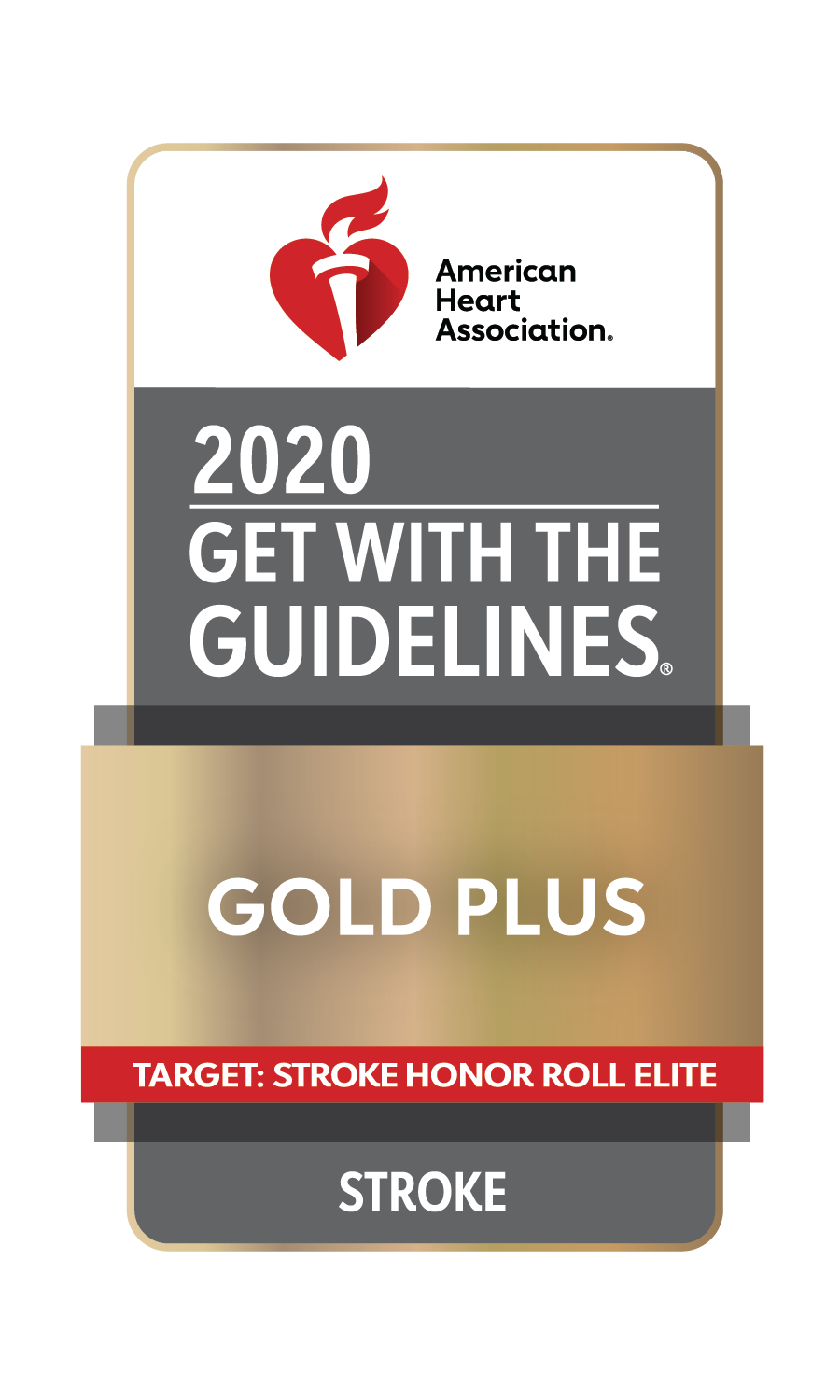 Get With The Guidelines - Stroke Gold Plus Quality Achievement Award